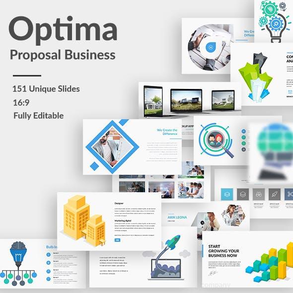 Optima Proposal Business Google Slide Template