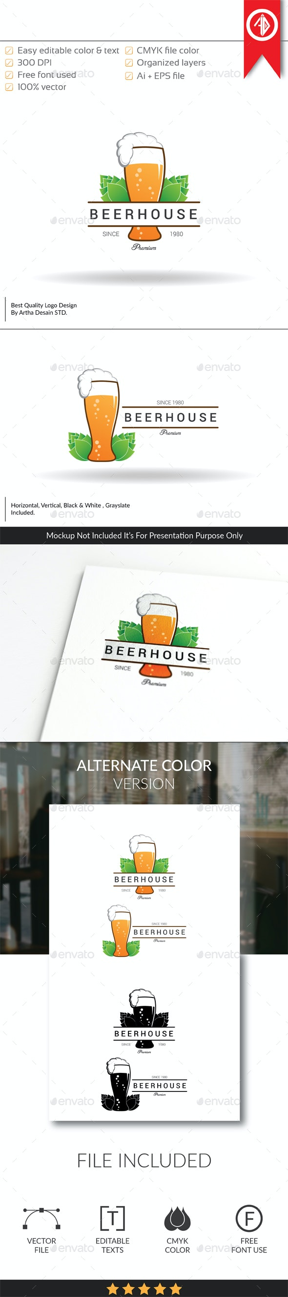 Beer House / Pub - Logo Template