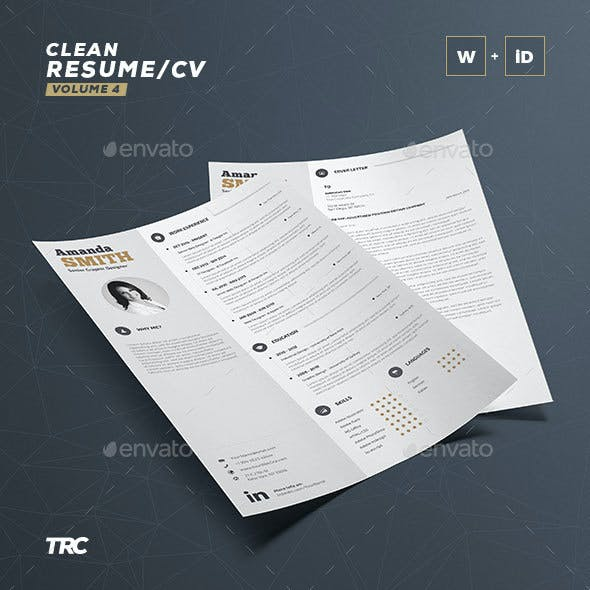 Clean Resume Vol. 4