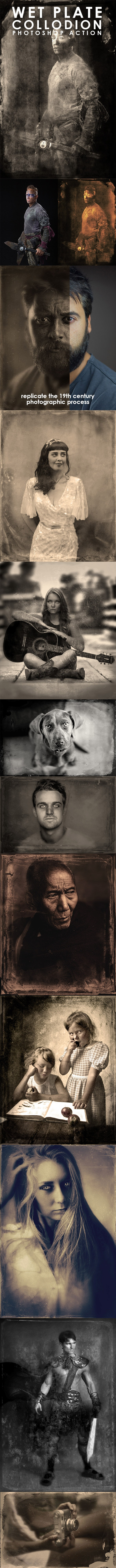 Wet Plate Collodion Photoshop Action - Photo Effects Actions