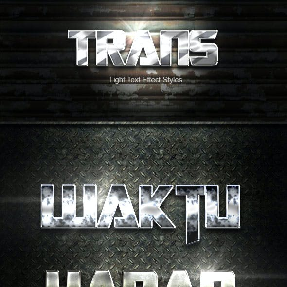 Trans Silver Text Effect V03