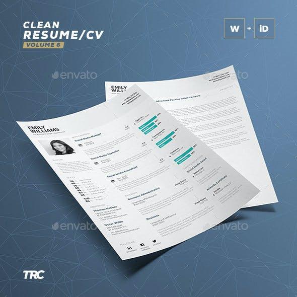 Clean Resume Vol. 6
