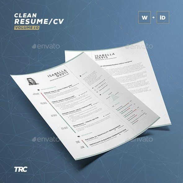 Clean Resume/Cv Volume 10
