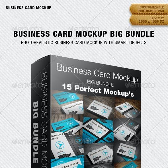 Business Card Mockup Big Bundle