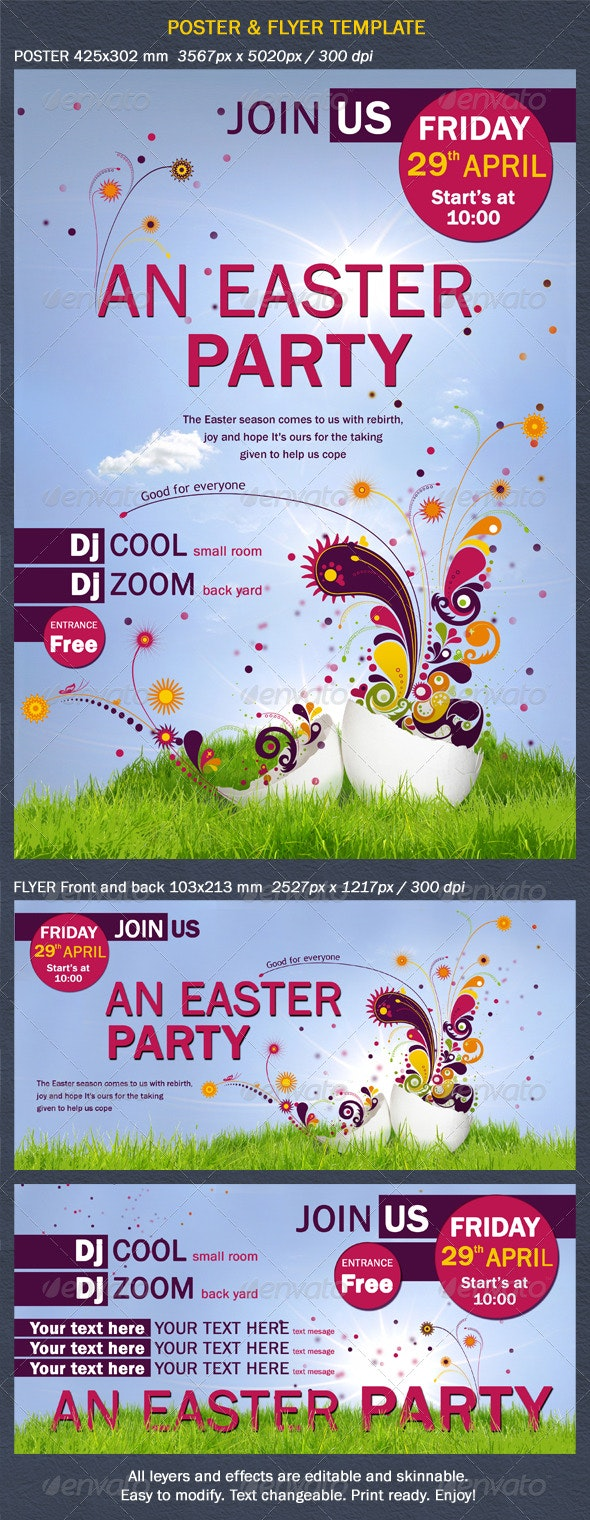 Poster and Flyer Two Sides.   - Miscellaneous Print Templates