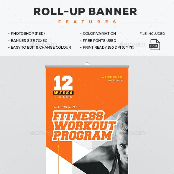 Gym Roll-Up Banner