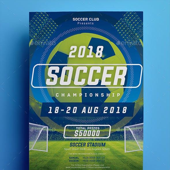 Soccer Championship Flyer 02