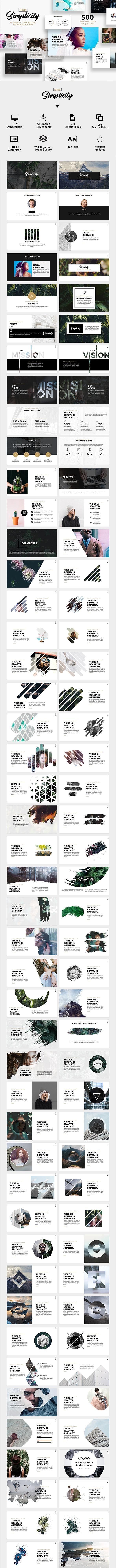 Simplicity Slide Minimal Trending Presentation - Creative PowerPoint Templates