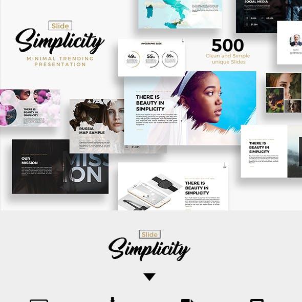 Simplicity Slide Minimal Trending Presentation