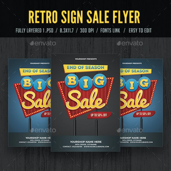 Retro Sign Sale Flyer