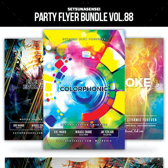 Party Flyer Bundle Vol.88