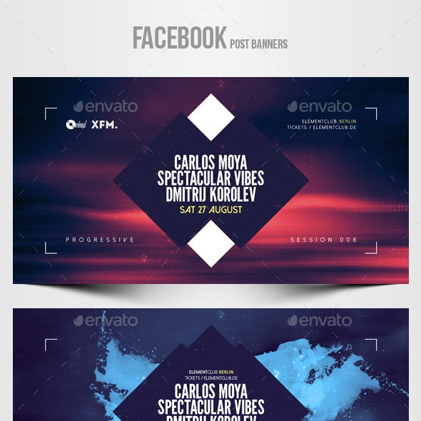 Electronic Music Party vol.30 - Facebook Post Banner Templates