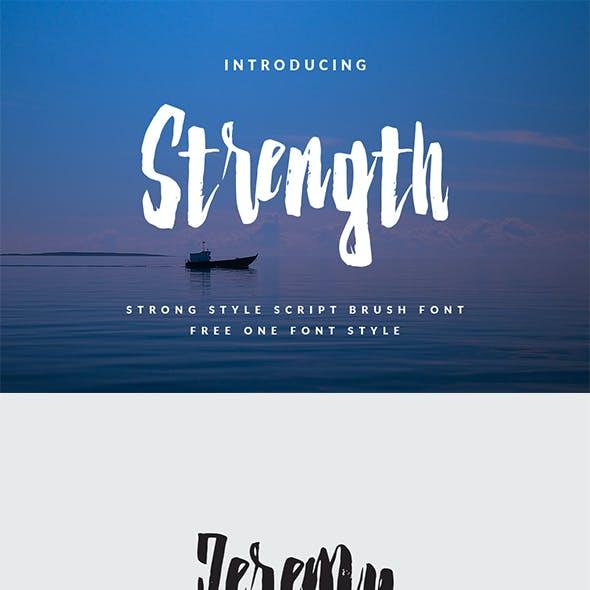 Strenght - Script Brush