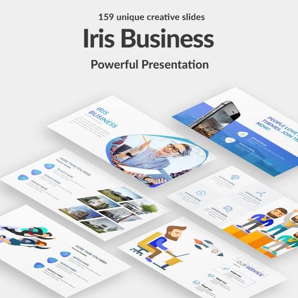 Iris Business Professional Google Slide Template