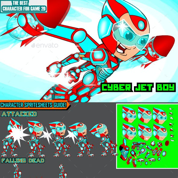 Cyber Jet Boy Game Character