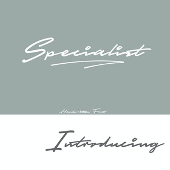 Specialist Handwritten Font