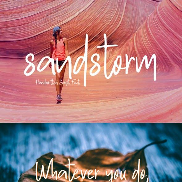 sandstrom | Handwritten script Font