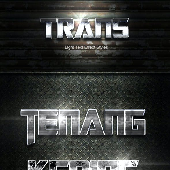 Trans Silver Text Effect V04