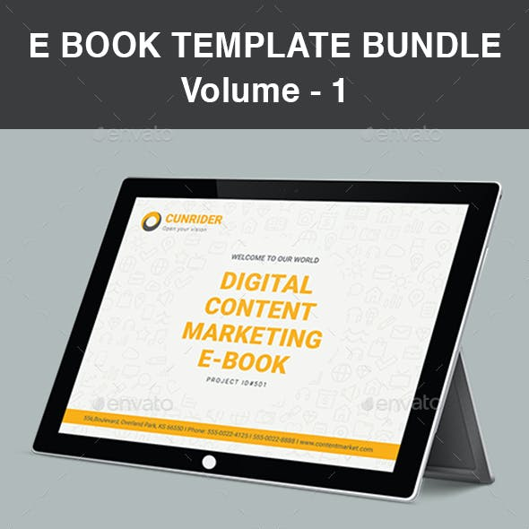 E Book Template Bundle | Volume - 1