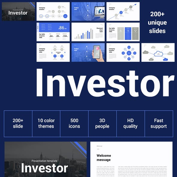 Investor Pitch Deck Keynote Template