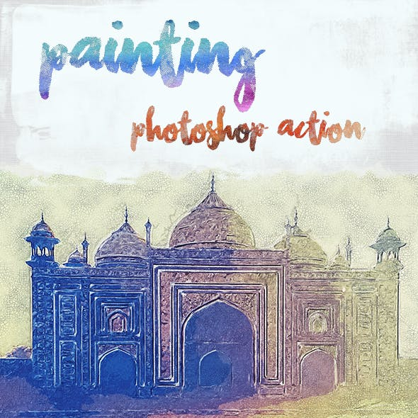 Painting Photoshop Action