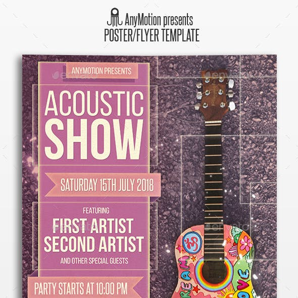 Acoustic Show Flyer   Poster