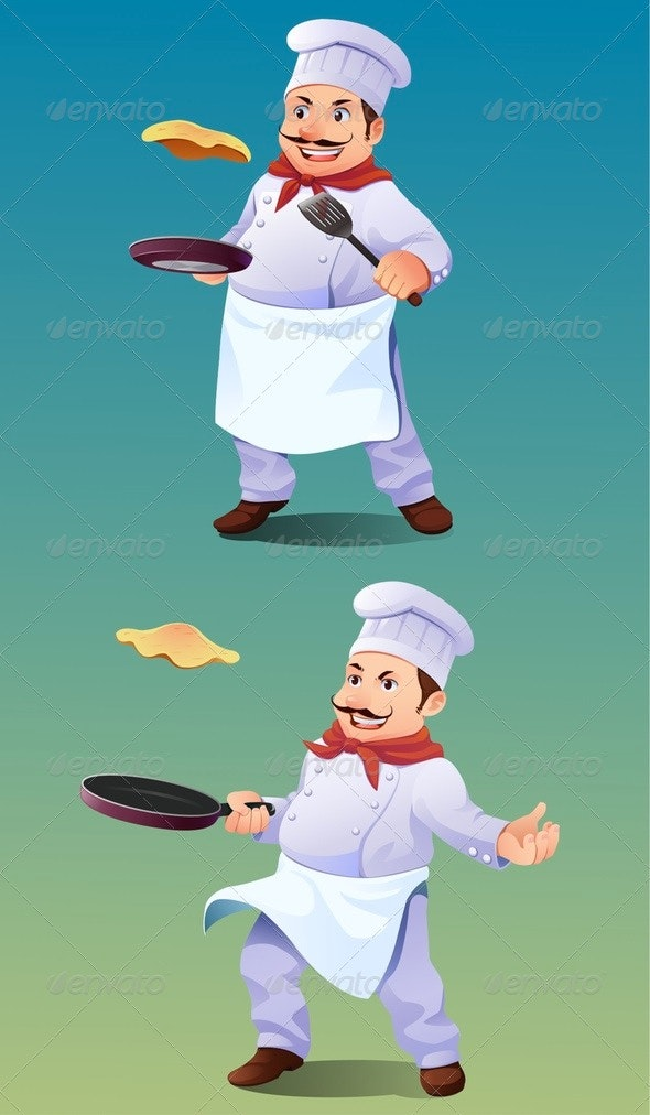 Omelet or Pancake Chef - People Characters