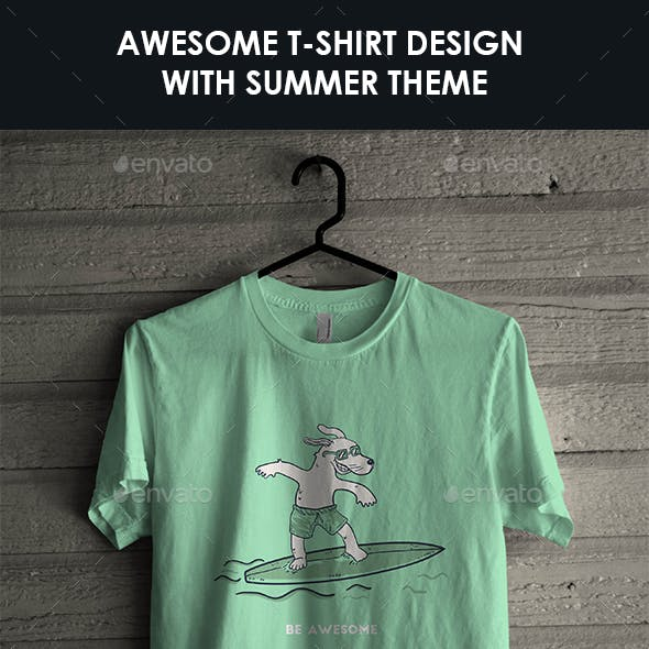 T-Shirt with Summer Theme