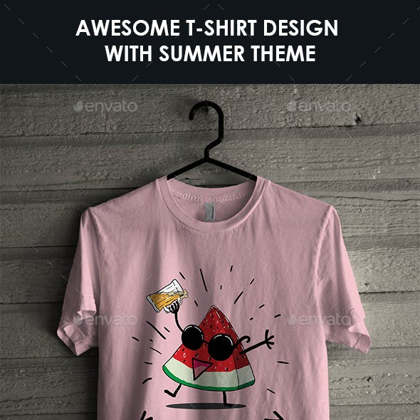 T-Shirt with Summer Theme No. 2
