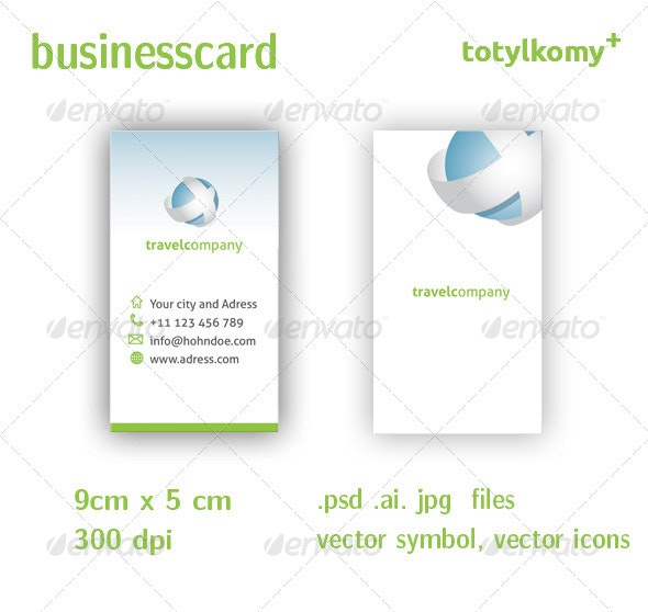 Travel Company  Business Card - Industry Specific Business Cards