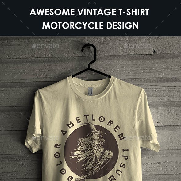 Vintage T-Shirt Motorcycle Design