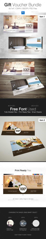 Gift Voucher Bundle - Cards & Invites Print Templates