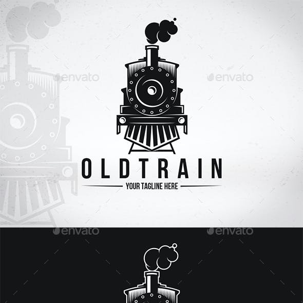 Old Train Logo Template