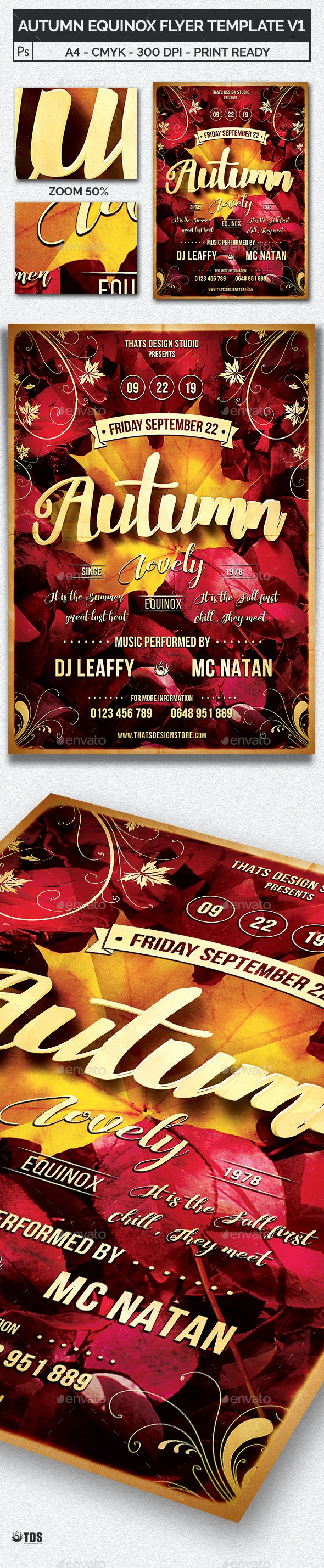 Autumn Equinox Flyer Template V1 - Clubs & Parties Events