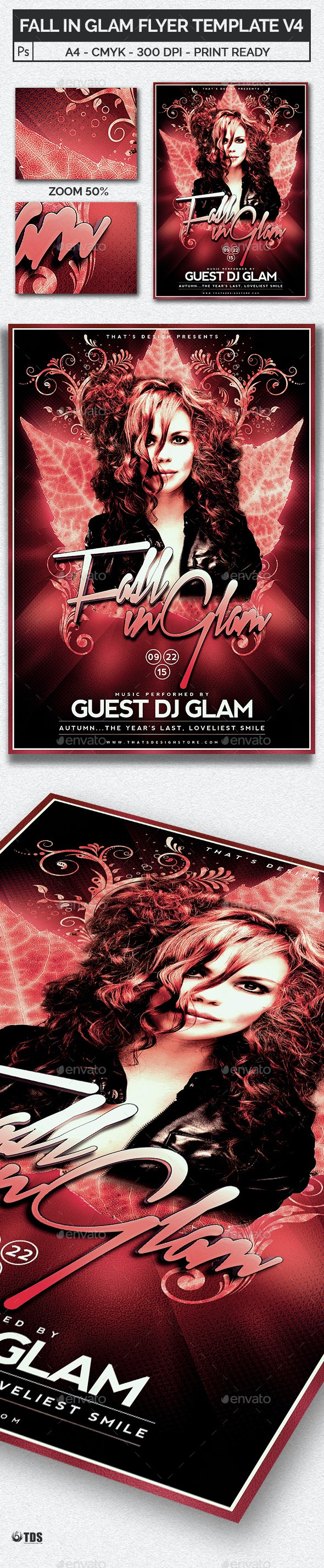 Fall in Glam Flyer Template V4 - Clubs & Parties Events