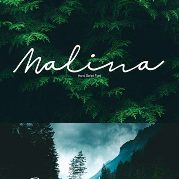 Malina | Script Font