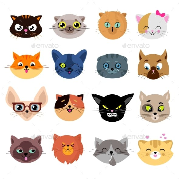 Heads of Cat Characters