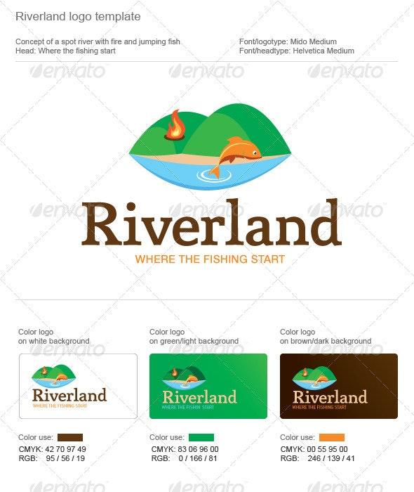 Riverland Fishing Logo - Animals Logo Templates