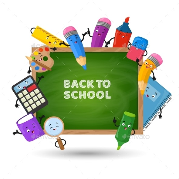 Back To School Vector Background - Backgrounds Decorative
