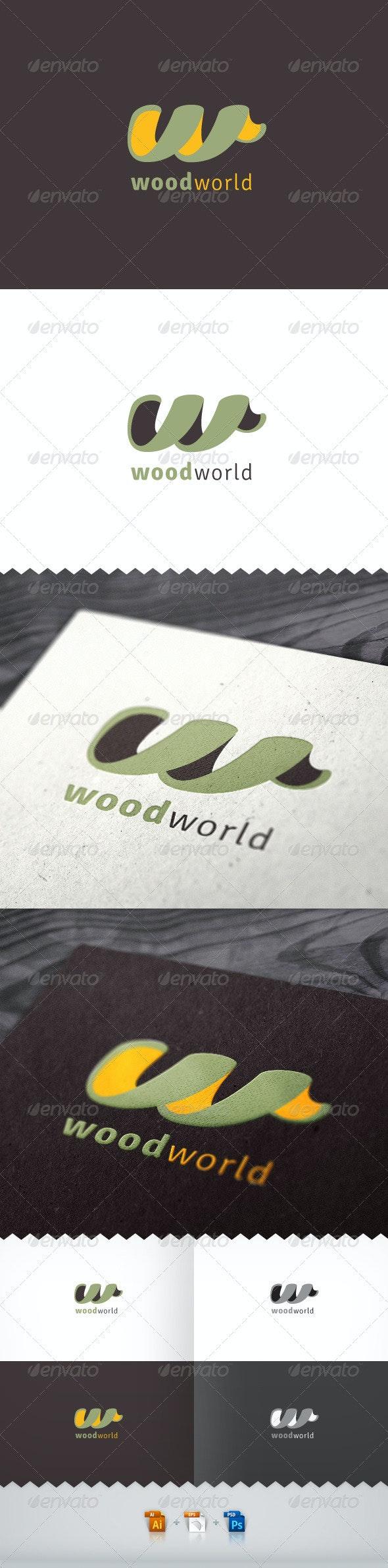 Wood World Logo - Letters Logo Templates