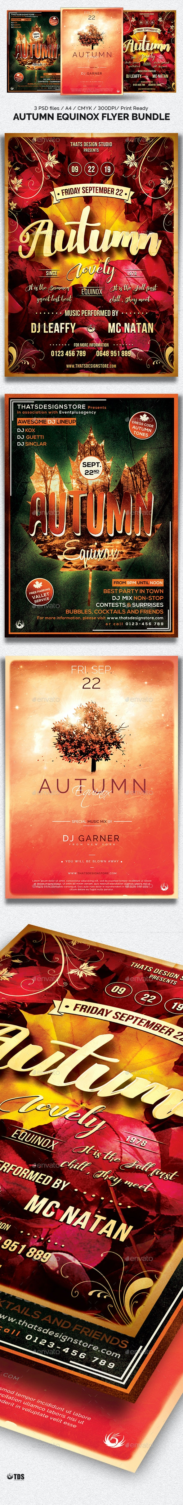 Autumn Equinox Flyer Bundle - Clubs & Parties Events