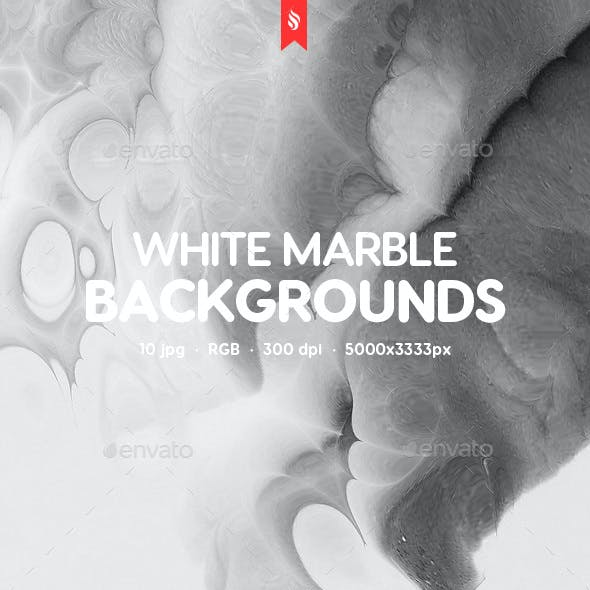 Abstract White Marble Surface Backgrounds