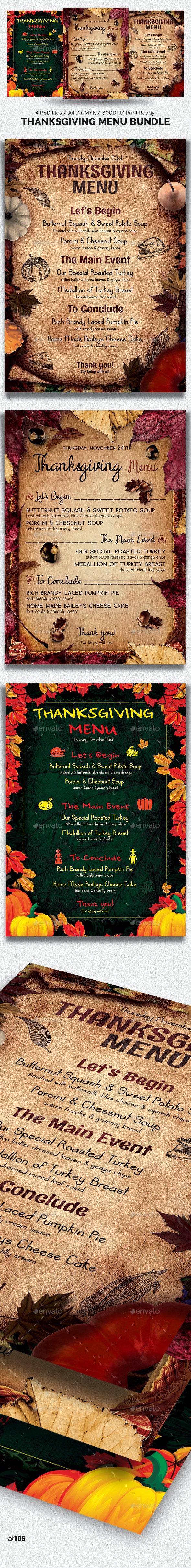 Thanksgiving Menu Bundle - Restaurant Flyers