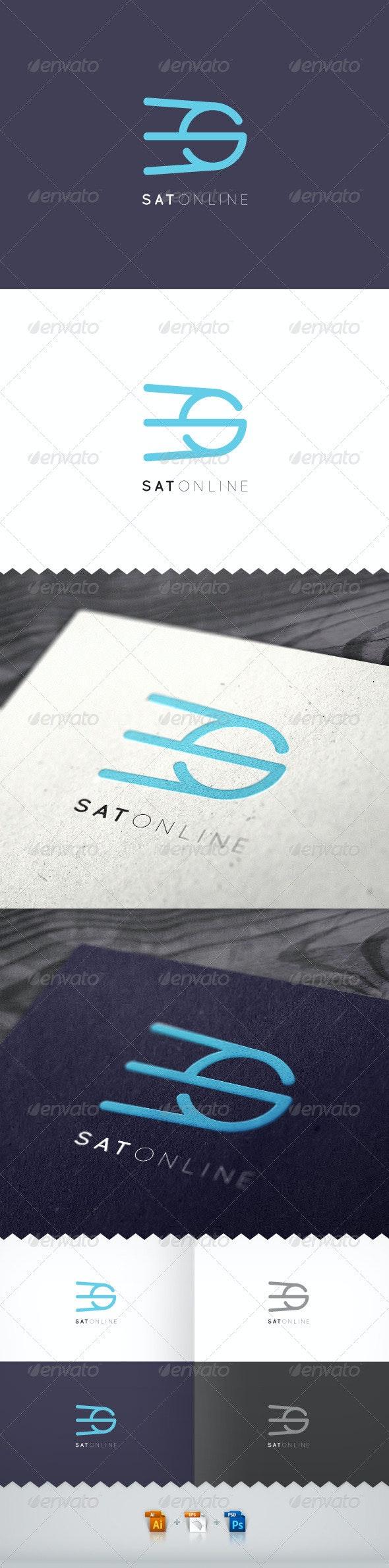 Sat Online Logo - Letters Logo Templates