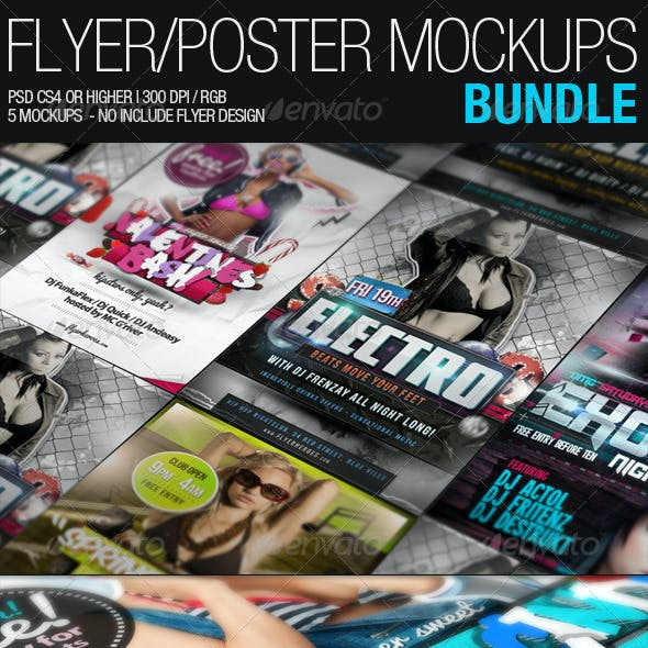 Flyer Poster Mockups Bundle