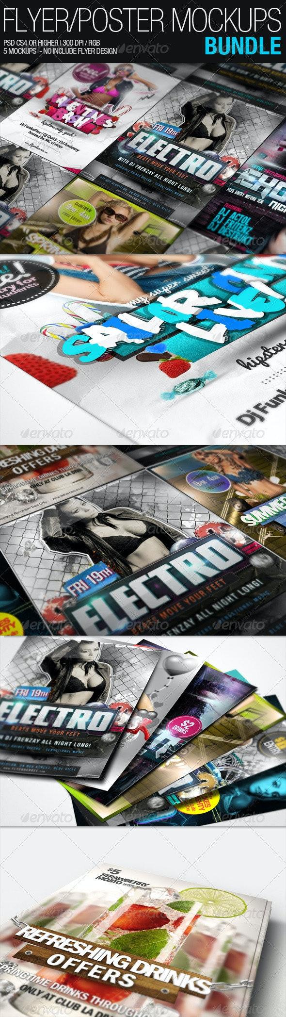 Flyer Poster Mockups Bundle - Flyers Print