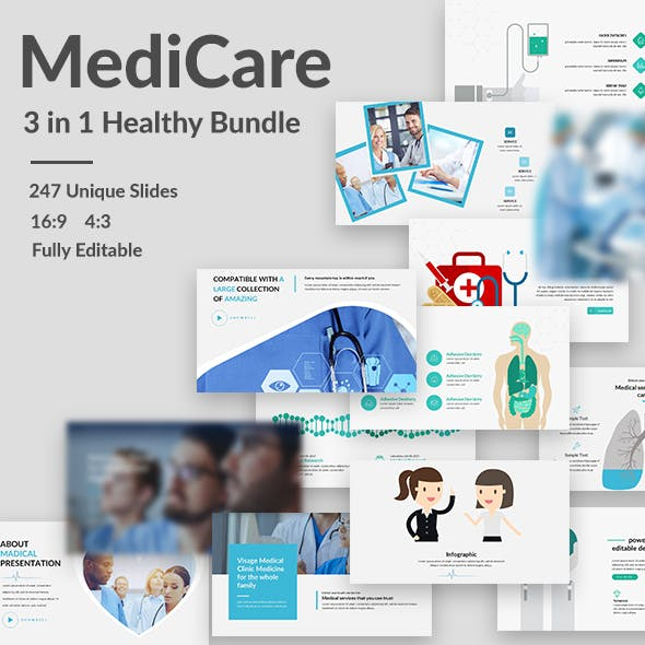 Medicare - 3 in 1 Bundle Powerpoint Template