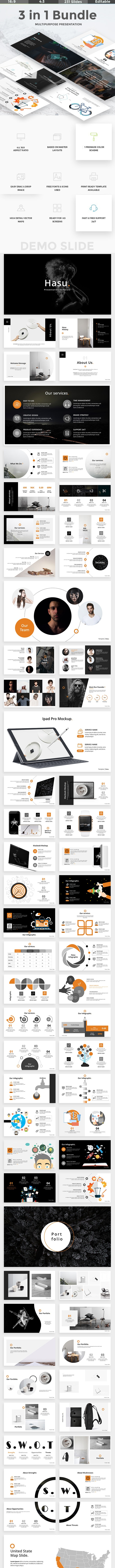 3 in 1 Bundle Creative Powerpoint Template - Creative PowerPoint Templates