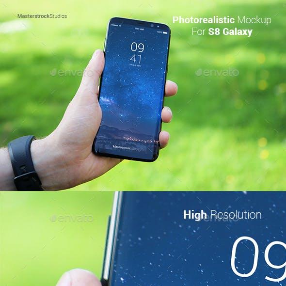 S8 Galaxy Smartphone Photo-realistic Mockup 3