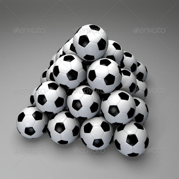 Pyramid of Soccer Balls